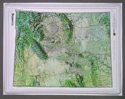 Wyoming Raised Relief Map