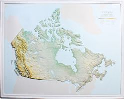 Canada Raised Relief Map