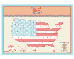 U.S. Scratch Map, Mini