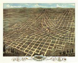 Antique Map of Atlanta, GA 1871