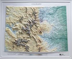 Colorado Raised Relief Map (Raven colors)