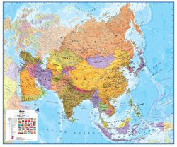 Asia Wall Map by Maps International
