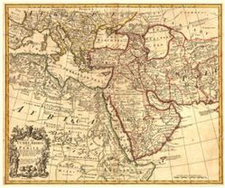 Antique Map of the Middle East 1721 (#1)