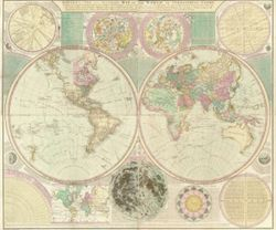 1780 World Map Antique Reproduction