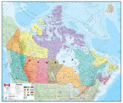 Canada Political Wall Map by Maps International