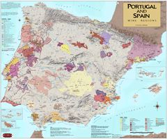 Spain & Portugal Wine Region Map