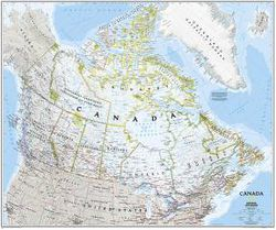 Canada Wall Map by National Geographic