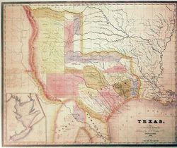 Antique Map of Texas 1834