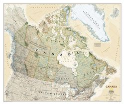 Canada Wall Map, Executive by National Geographic