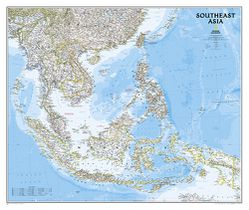 Southeast Asia Wall Map by National Geographic