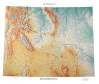 Wyoming State Topographical Wall Map by Raven Maps