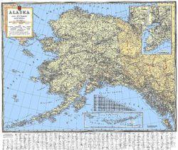 Alaska Historic Wall Map by Kroll Map Company