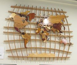 World in Wood, World Map