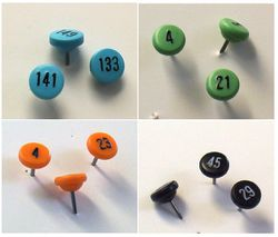 Numbered Map Pins (Large)