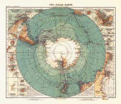 Antique Map of Antarctica 1912
