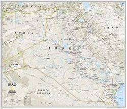 Iraq Wall Map by National Geographic