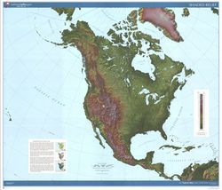 North America Shaded Relief by USGS