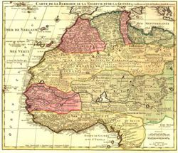 Antique Map of West Africa 1792