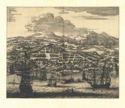 Antique Map of Salvador Brazil 1671