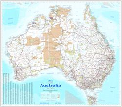 Australia Wall Map by Hema