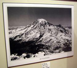 Mt. Rainier Black and White Poster