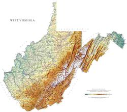 West Virginia State Wall Map l Raven Maps