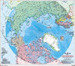 North Circumpolar Political Wall Map