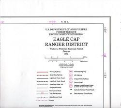 Eagle Cap Wilderness Ranger District Map