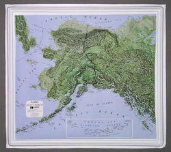 Alaska Raised Relief Map
