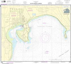 NOAA Chart 18428 - Oak & Crescent Harbors