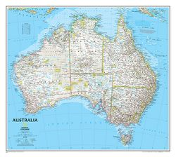 Australia Wall Map by National Geographic