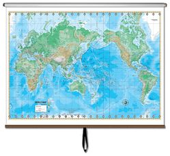 Pull down world map world map for classroom world map on roller physical world map on a roller gumiabroncs Choice Image