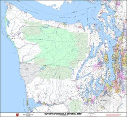 Olympic Peninsula Metro Map by Kroll Map