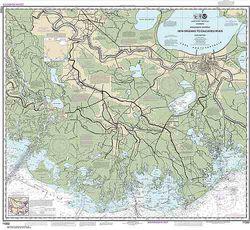 Nautical Chart 11352 Gulf Coast: Atchafalaya to New Orleans