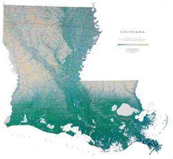 Louisiana Wall Map l Raven Maps