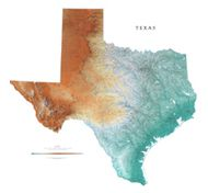 Texas State Topo Map by Raven Maps