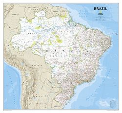 Brazil Wall Map by National Geographic