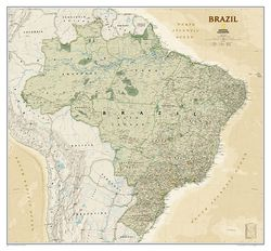 Brazil Wall Map, Executive by National Geographic