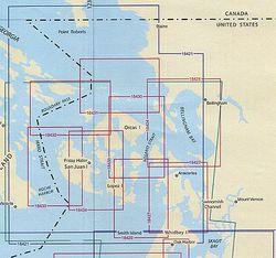 San Juan Islands Nautical Charts by NOAA