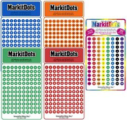 Numbered Map Sticker Dots