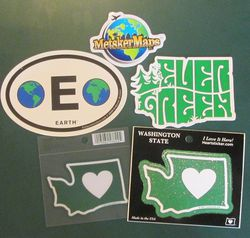 Assorted Map Stickers