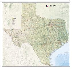 Texas Wall Map by National Geographic