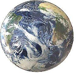 Inflatable World Globe - Satellite View