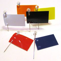 Map Pins, Rectangle Shaped Map Flags