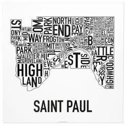 Saint Paul Neighborhood Map