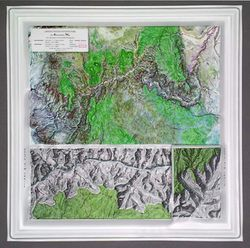 Grand Canyon National Park Raised Relief Map