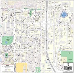 Bellevue Downtown Business District Map
