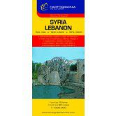 Syria & Lebanon Travel Map by Cartographia