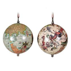 Globe Ornament 2 pack - Age of Exploration & The Heavens