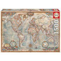 Antique Style World Map Puzzle, 1500 Piece